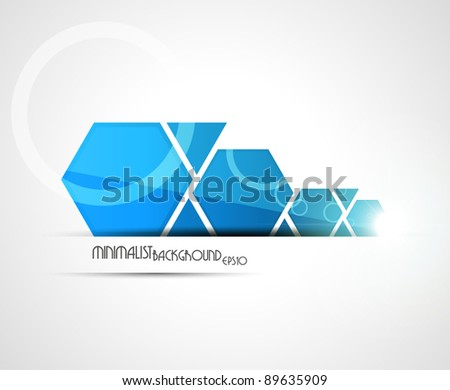 Minimalist background. Vector illustration. - stock vector