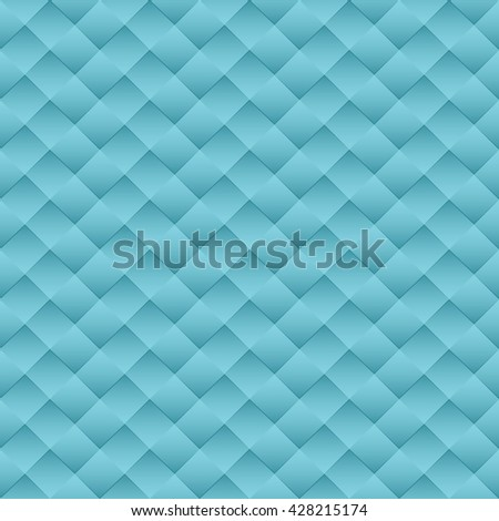 Minimalist concept modern style wallpaper with geometric seamless pattern blue background - stock vector