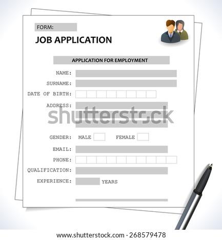 Job Application Form Images RoyaltyFree Images Vectors – Job Application Forms
