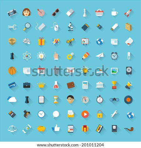 Minimalist flat ui vector design element and icon set. - stock vector