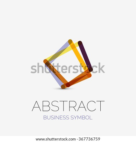 Minimalist Linear Business Icons Logos Made Stock Vector Hd Royalty