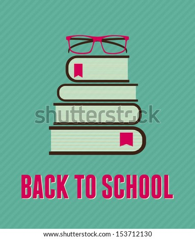 Minimalist style 'Back to School' concept illustration. - stock vector