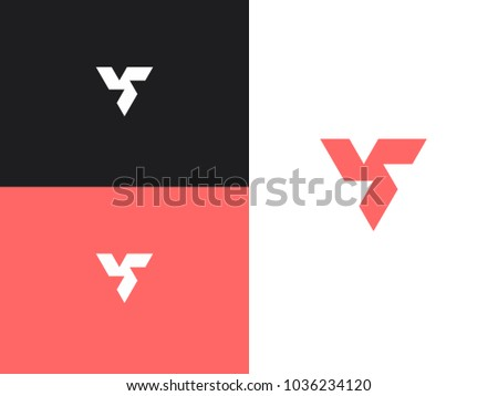 Minimalist Triangle Geometric Logo Triangular Abstract Geometry