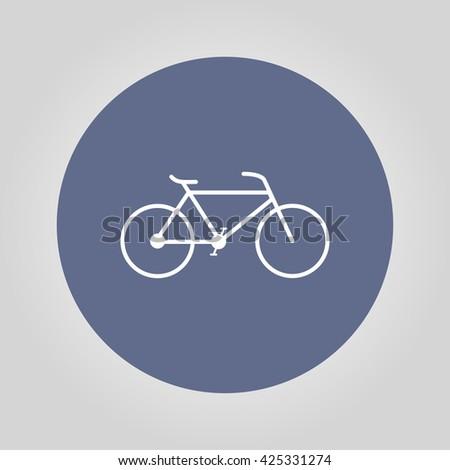 Minimalistic bicycle icon. Vector, EPS 10 illustration - stock vector