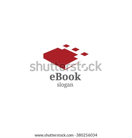 Minimalistic book cover. Vector logo. Educational Portal. Knowledge symbol and wisdom teachings. Learning sign. - stock vector