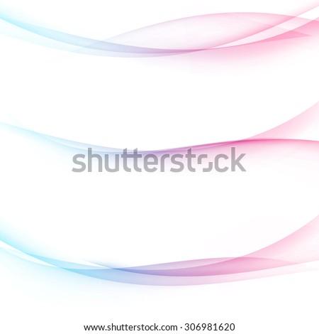 Minimalistic colorful divider swoosh line set web abstract header footer divider design. Vector illustration - stock vector