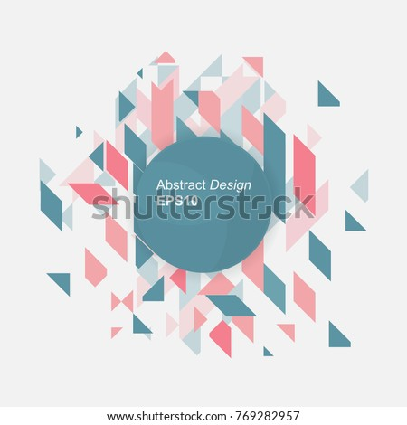 Minimalistic design, creative concept, modern diagonal abstract background Geometric element. vector illustration
