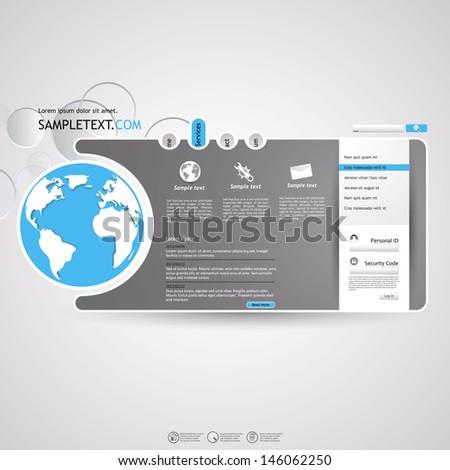 Minimalistic elegant Website template  - stock vector
