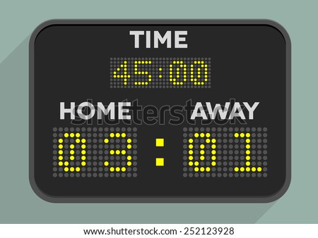 minimalistic illustration of a sports scoreboard, eps10 vector - stock vector