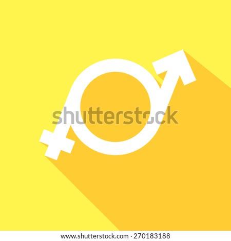 minimalistic illustration of a transgender symbol, eps10 vector - stock vector