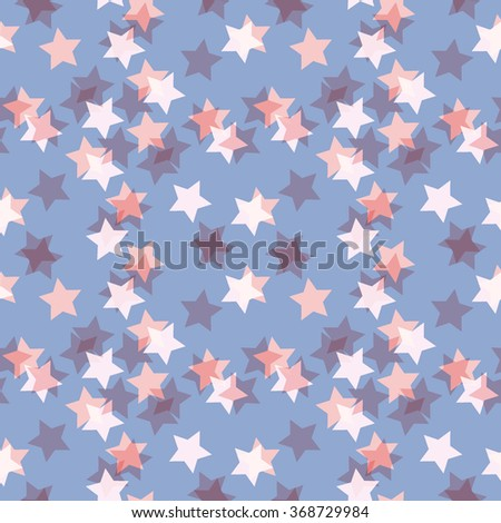 Minimalistic retro pattern - simple colors and shapes. Seamless background