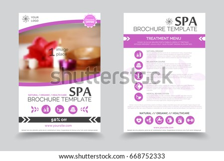 Brochure Template Yoga Stock Images RoyaltyFree Images Vectors - Free spa brochure templates