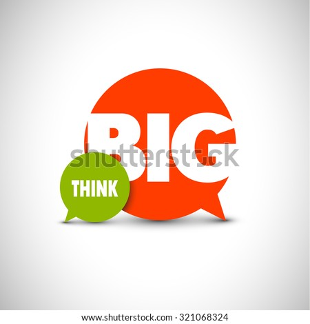 Minimalistic text lettering of an inspirational saying Think big - stock vector