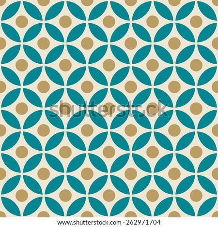 minimalistic vector floral pattern. can by tiled seamlessly. - stock vector