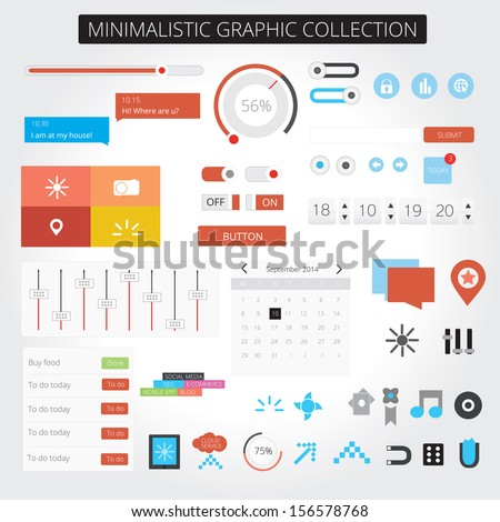 Minimalistic web graphics - stock vector