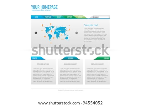 Minimalistic website template - stock vector