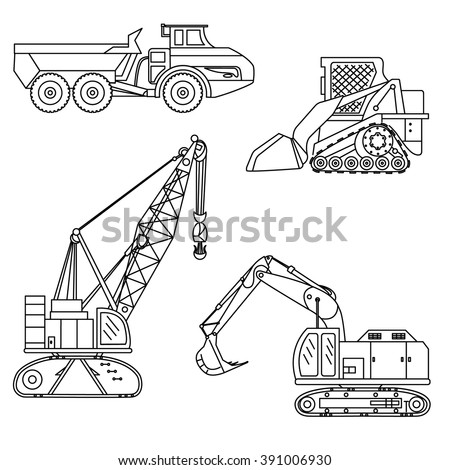 mining equipment coloring pages - photo#23
