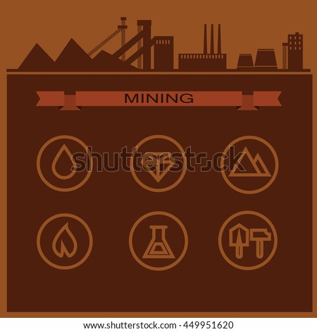 Oil Industry Infographic Poster Information Banner Stock Vector ...