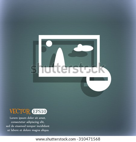 Minus File JPG sign icon. Download image file symbol. Set colourful buttons. On the blue-green abstract background with shadow and space for your text. Vector illustration - stock vector