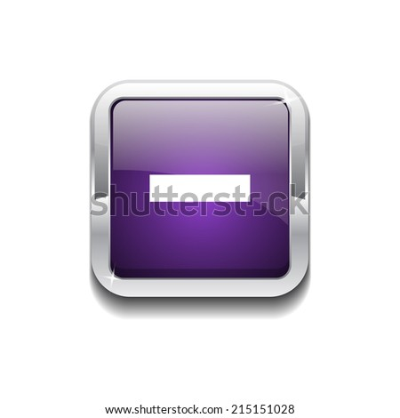 Minus Rounded Corner Vector Purple Web Icon Button