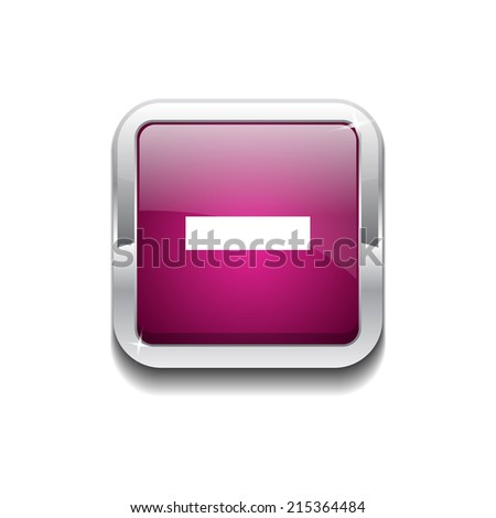Minus Rounded Rectangular Vector Pink Web Icon Button