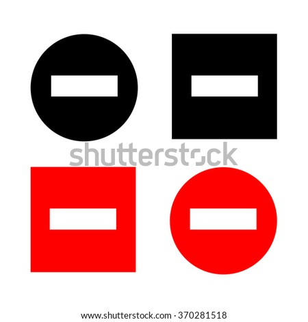 Minus Sign Vector EPS10, Great for any use. - stock vector