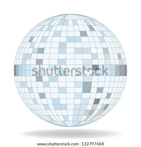 mirror ball vector - stock vector