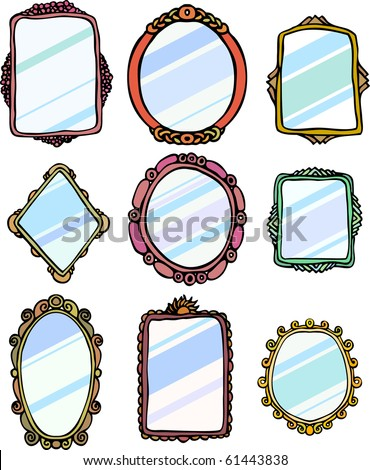 Mirror Frames - stock vector