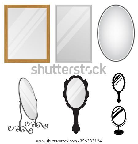 Mirrors - stock vector