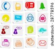 Miscellaneous office and communication vector icons - stock vector