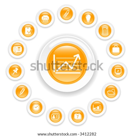 Miscellaneous office vector icons - stock vector