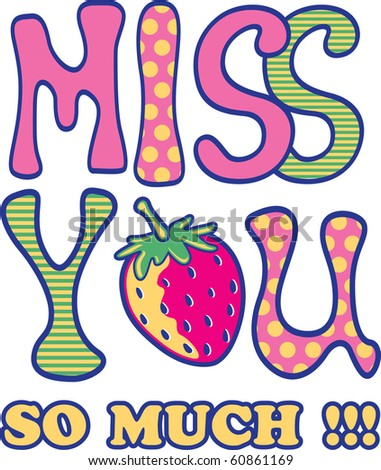 miss you stock vector 60861169 shutterstock rh shutterstock com will miss you clip art miss you clip art pictures