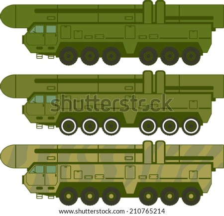 Missile carrier vector - stock vector