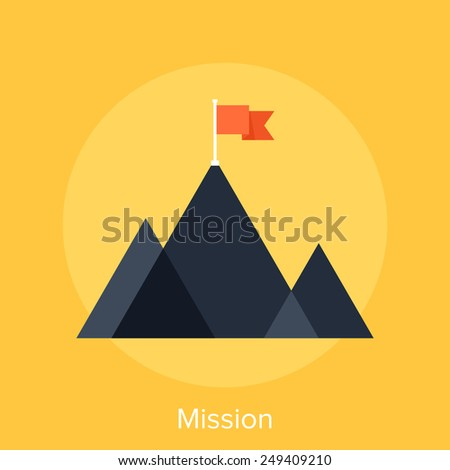 Mission - stock vector