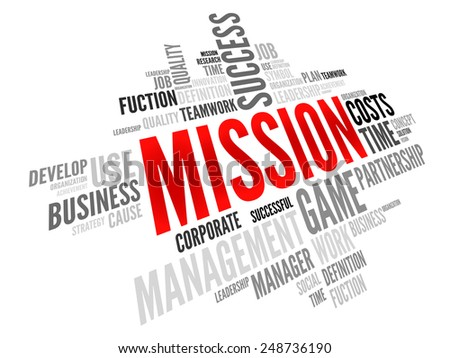MISSION word cloud, business concept - stock vector