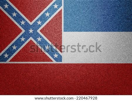 Mississippi flag - stock vector