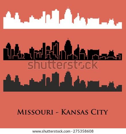 Missouri, Kansas City - stock vector