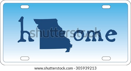 Missouri state license plate vector