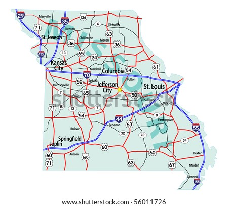 Missouri Map Stock Images RoyaltyFree Images Vectors - Missouri on a us map
