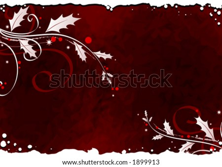 Mistletoe background design - stock vector