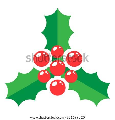 Mistletoe icon vector. - stock vector