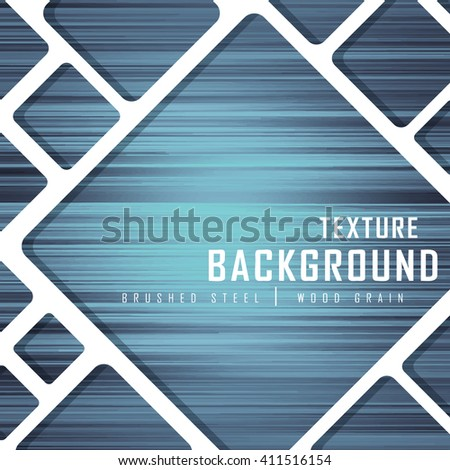 Misty Blue Brushed Metal Wood Grain Texture Background Graphic Design Vector Illustration EPS10  - stock vector