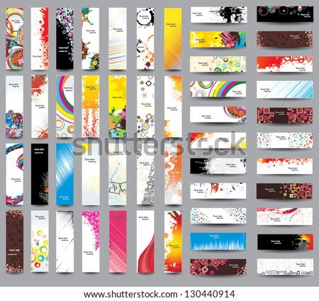 Mix Collection vertical and horizontal banners. Vol 3 - stock vector