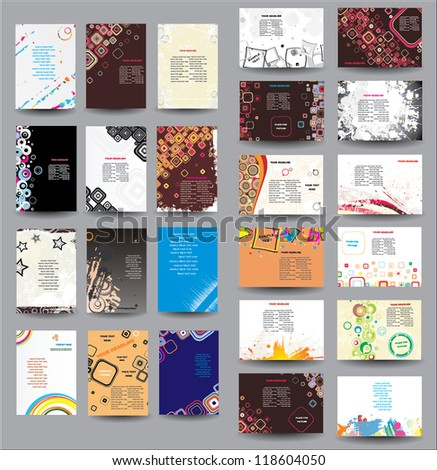Mix Collection vertical and horizontal posters - stock vector