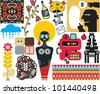 Mix of different vector images and icons. vol.49 - stock vector