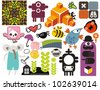 Mix of different vector images and icons. vol.54 - stock vector
