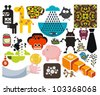 Mix of different vector images and icons. vol.55 - stock vector