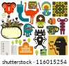 Mix of different vector images and icons. vol.60 - stock vector