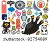 Mix of different vector images and icons. vol.17 - stock vector