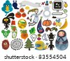 Mix of different vector images and icons. vol.22 - stock vector